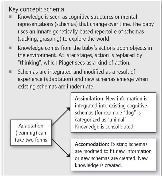 piagets and vygotskys explanation of cognitive development Abstract cognitive theories explain how behavior changes as a result of people's  perception,  32 piaget's work on cognitive development.