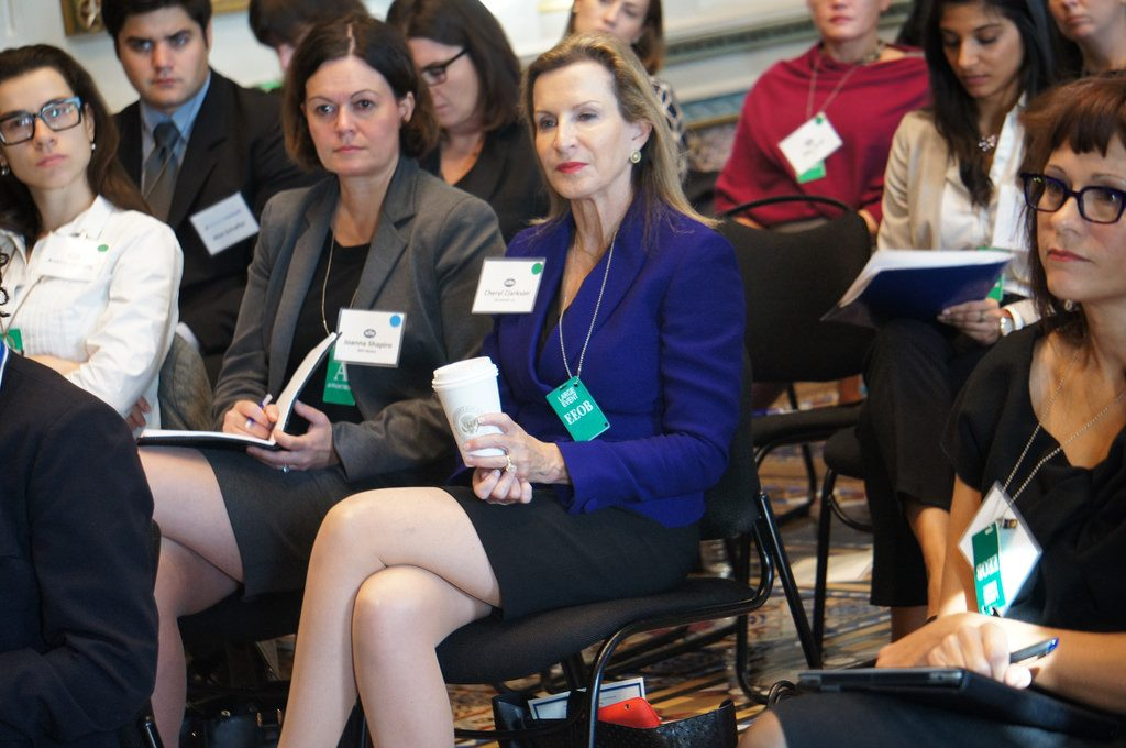 Photo of Women in Business at the White House representing Social Facilitation since they are working together